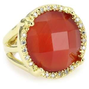 Beyond Rings Enchanted Red Round Cats Eye Adjustable Ring Jewelry