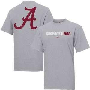 Nike Alabama Crimson Tide Ash Rush the Field T shirt