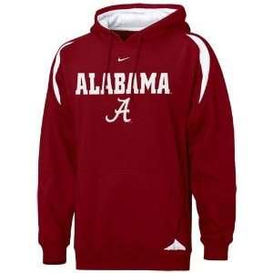 Nike Alabama Crimson Tide Crimson Pass Rush Hoody