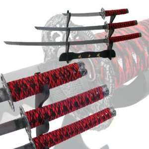 Demon 3 Pc New Samurai Blood Rage Katana Sword Set Sports & Outdoors