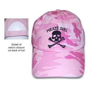 Pirate Girl Baseball Cap Camouflage Pink