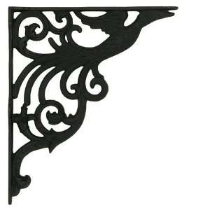 Peacock Iron Shelf Bracket   Black Powder Coat Home