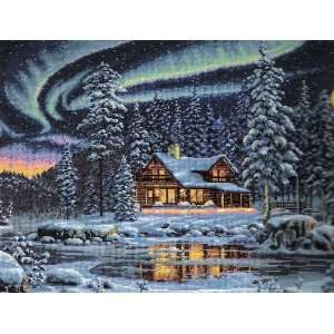 Cross Stitch Kit Aurora Cabin Dimensions Gold Collection