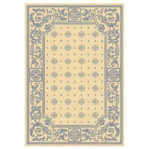 Villa Rug 53 Round Blue Home & Kitchen