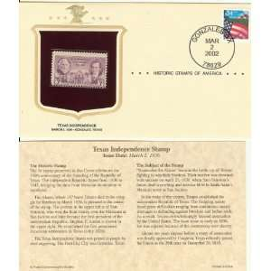 Historic Stamps of America Texas Independence Stamp Issue Date March