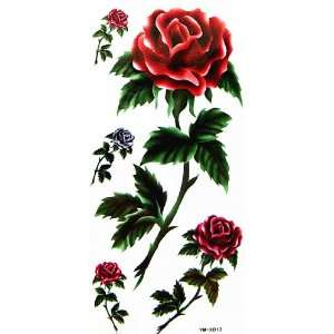 YiMei Temporary tattoos sticker color flowers for girls Beauty
