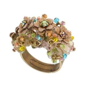 Fascinating Michal Negrin Rich Design Adjustable Ring Decorated with