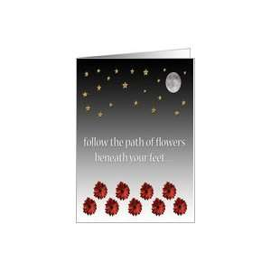 com Graduation Card  Follow your dreams, Guided by flowers and stars