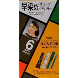 Paon Seven Eight Permanent Hair Color Kit 6 Dark Brown