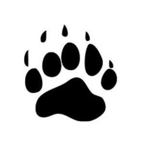 Bear Paw Print Round Sticker