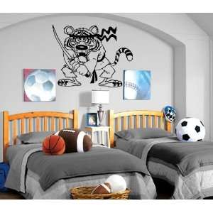 Karate Ninja Tiger Cartoon Kids Room Nursery Wall Mural Vinyl Art