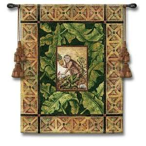 Maraca Mulata II Monkey Tapestry Wall Hanging Home