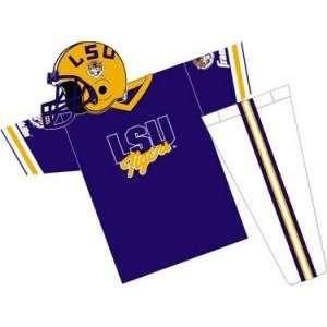 LSU Tigers Youth NCAA Team Helmet and Uniform Set (Small