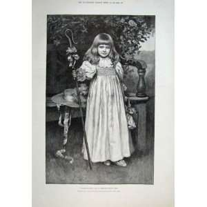 Little Bo Peep By Prescott Davies 1894 Old Print Fine A: