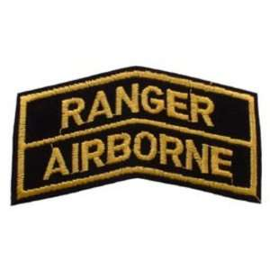 U.S. Army Ranger Airborne Patch Black & Yellow 3 5/8