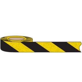 Striped waterproof anti slip tapes call attention to potential