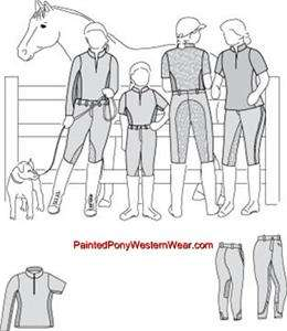 English Riding Breeches   Show Clothes Sewing Pattern 2300