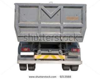 opean Dump Truck Rear View Stock Photo 9213568  Shutterstock