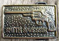 Vintage Smith Wesson Firearms Pistol Belt Buckle