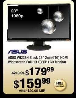 Black 23 inch 2ms(GTG) HDMI Widescreen Full HD 1080P LCD Monitor