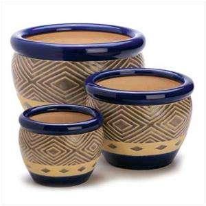 Wholesale Lot of 3 Ceramic Garden Flower Pots Planters Sets Indoor and