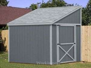 x8 Slant / Lean To Style Shed Plans, See Samples