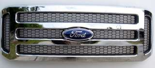 2005  07 Ford CHROME Grille Grill F250 F450 & Excursion