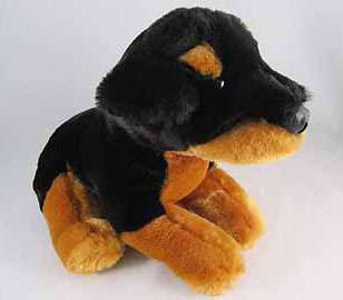 Animal Alley Black Brown Plush Rottweiler Puppy Dog EUC Stuffed Soft
