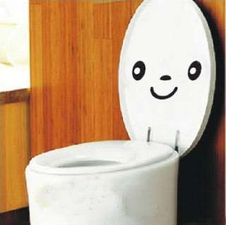 Cute Toilet Expressions Decor Mural Art Wall Sticker Decal S014
