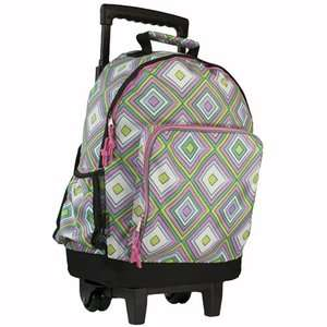 Wildkin Pink Retro High Roller Rolling Backpack Bags