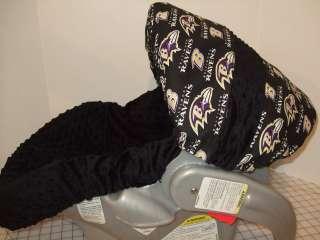 DOTS/BALTIMORE RAVENS PRINT INFANT CAR SEAT COVER/GRACO FIT