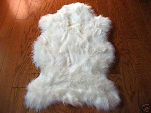 WHITE BEAR FAUX FUR RUG 2X4 NEW