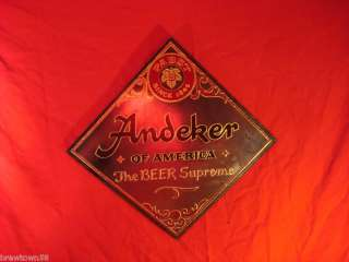 ANDEKER BEER SIGN MIRROR BAR SIGNS PABST BREWING ADVERTSING BEERS