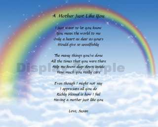 Mother Mom Gift Personalized Poem Birthday Mothers Day Or Christmas