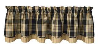Country Black and Tans Plaid Layered, Lined Park Designs Millbury