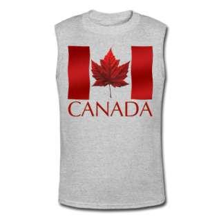 Canadian Flag Mens Tank Top Sleeveless T shirt (Wife Beater)  Mens