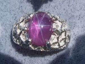 MENS LINDE LINDY TRN PURPLE STAR SAPPHIRE CREATED RING