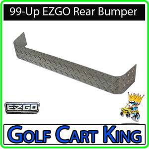 NEW EZGO TXT Golf Cart Diamond Plate Rear Bumper Cover