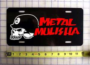 METAL MULISHA CUSTOM LICENSE PLATE / CAR TAG