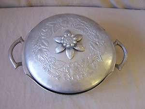 Everlast Forged Aluminum Large Casserole Dish Floral Pattern Top Pyrex