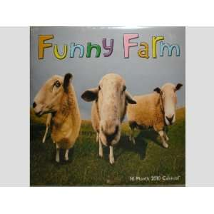 Funny Farm Animals 16 Month 2010 Wall Calendar: Office Products