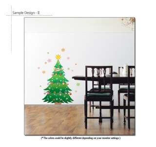 CHRISTMAS TREE Mural Art Wall Window Deco Vinyl Sticker