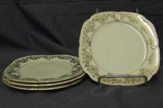 Edwin Knowles China Cream & Gold Flower SALAD PLATE