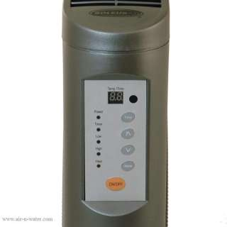 Low Profile Electric Space Heater 1500W Black 647568840022