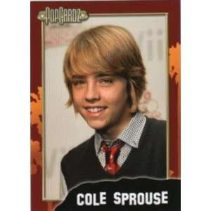 Cole Sprouse PopCardz Star Collector Card. Series One, No. 31. 2008.