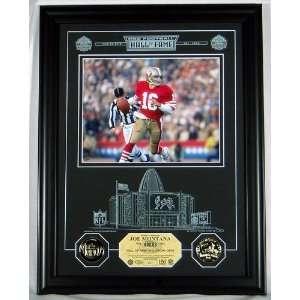 Joe Montana San Francisco 49ers NFL Hall Of Fame Archival Etched Glass