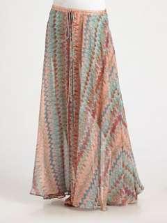 Haute Hippie   Kashmir Silk Maxi Skirt