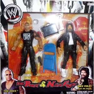 the ROCK and MICK FOLEY   WWE Wrestling Exclusive 2 Pack