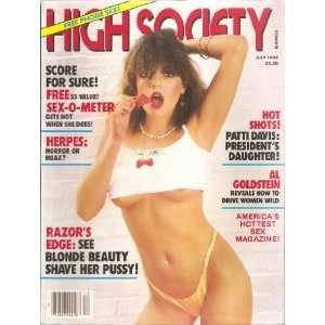 HIGH SOCIETY JULY 1983 PATTI DAVIS: HIGH SOCIETY MAGAZINE: Books