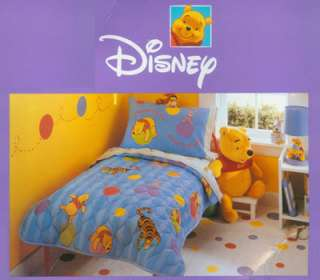 DISNEY WINNIE THE POOH & FRIENDS 4PC KIDS TODDLER BED GIFT SET NEW